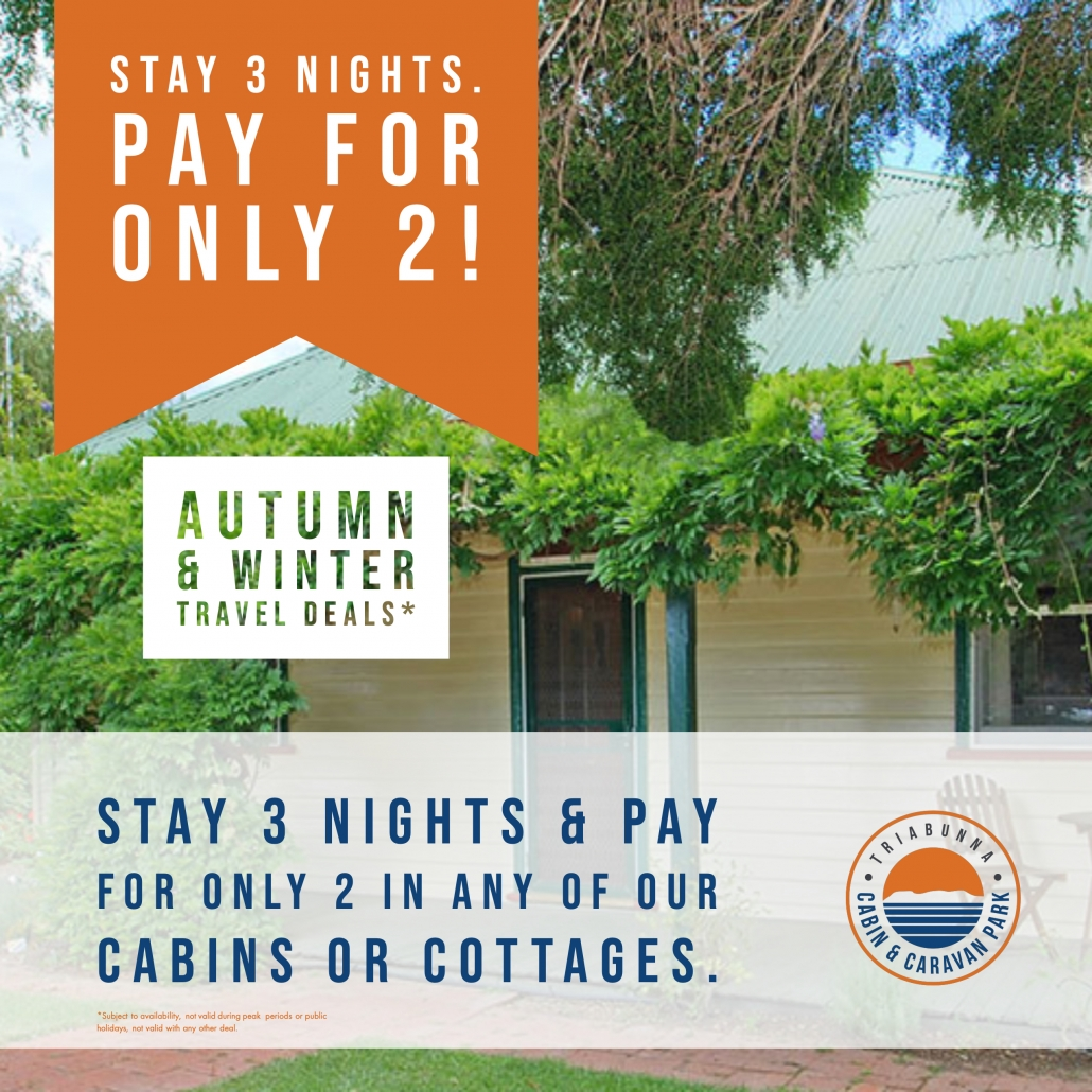 Triabunna Deal Stay 3 Pay 2